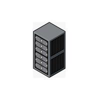 black server rack icon