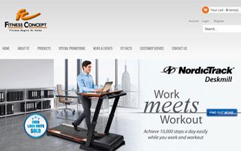 Fitness Concept Retail Chain - Web Design in Malaysia