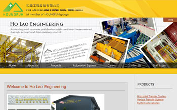 Ho Lao Engineering - Web Design in Malaysia