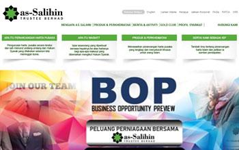 as-Salihin Trustee Berhad - Web Design in Malaysia