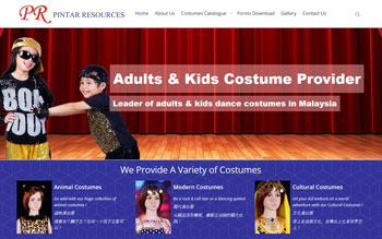 Pintar Resources Entertainment Costumes - Web Design in Malaysia