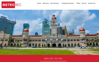 Metro Real Estate Consultancy - Web Design in Malaysia