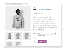 WooCommerce product page example